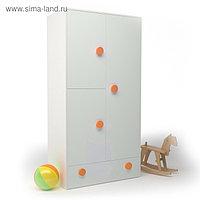 Шкаф створчатый ДМ-ШС-1-1, 932х1816х504 мм, корпус белый, фасад шафран