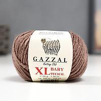 """Пряжа """"Baby Wool XL"""" 20% кашемир, 40% меринос. шерсть, 40% акрил 100м/50гр (835 кофейный)"""