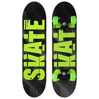 Скейтборд подростковый SKATE 62х16 см, колёса PVC d50 мм