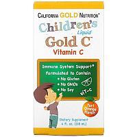 California Gold Nutrition, витамин C в жидкой форме для детей, класса USP, 118 мл