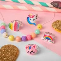 Набор колец детских и набор для создания бижутерии 'Сердечко' форма МИКС, цветные