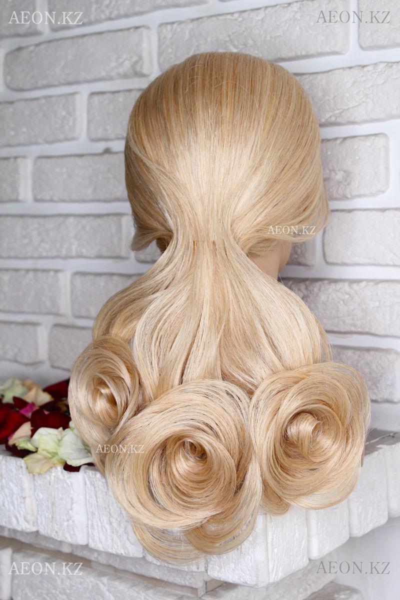 Голова-манекен AEON светло русый волос натуральный (100%) - 75 см - фото 2