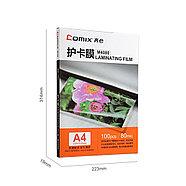 Плёнка для ламинирования COMIX M4080 А4, 80мкм, 100шт., фото 2