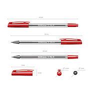 Ручка шариковая ErichKrause® ULTRA-10, цвет чернил красный (в коробке по 12 шт.), фото 2