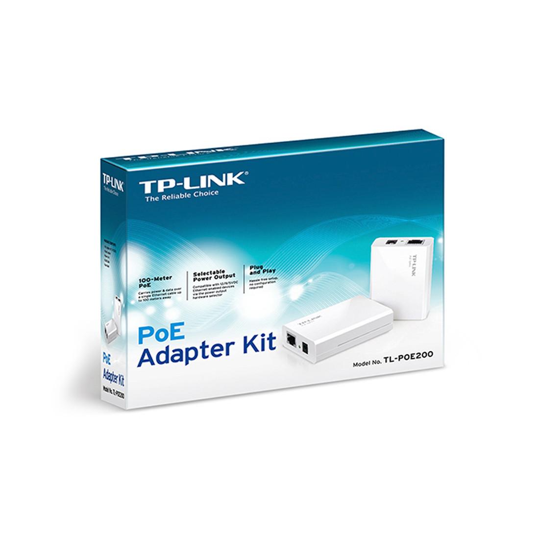 Комплект PoE инжектор + сплиттер TP-Link TL-POE200