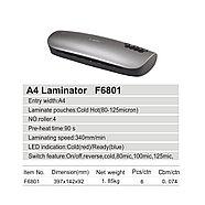 Ламинатор COMIX F6801 А4, 4 вала, 80-125 мкм, 34 см/мин., фото 2