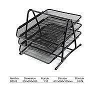 Лоток металлический Comix B2163, 3 секции, горизонтальный, для бумаг, фото 3