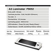 Ламинатор COMIX F9052 А3, 4 вала, 80-125 мкм, 30 см/мин., фото 2