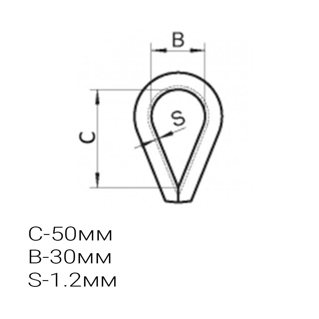 Коуш для стальных канатов, А-Оптик, АО-T1