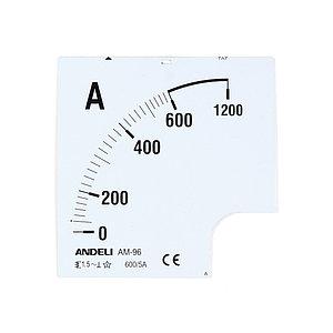 Шкала для амперметра ANDELI 600/5