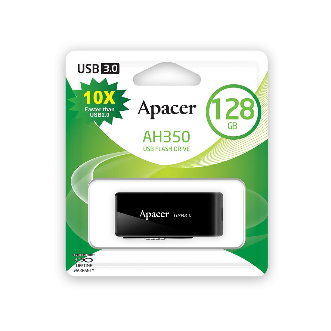 USB-накопитель Apacer AH350 128GB Чёрный