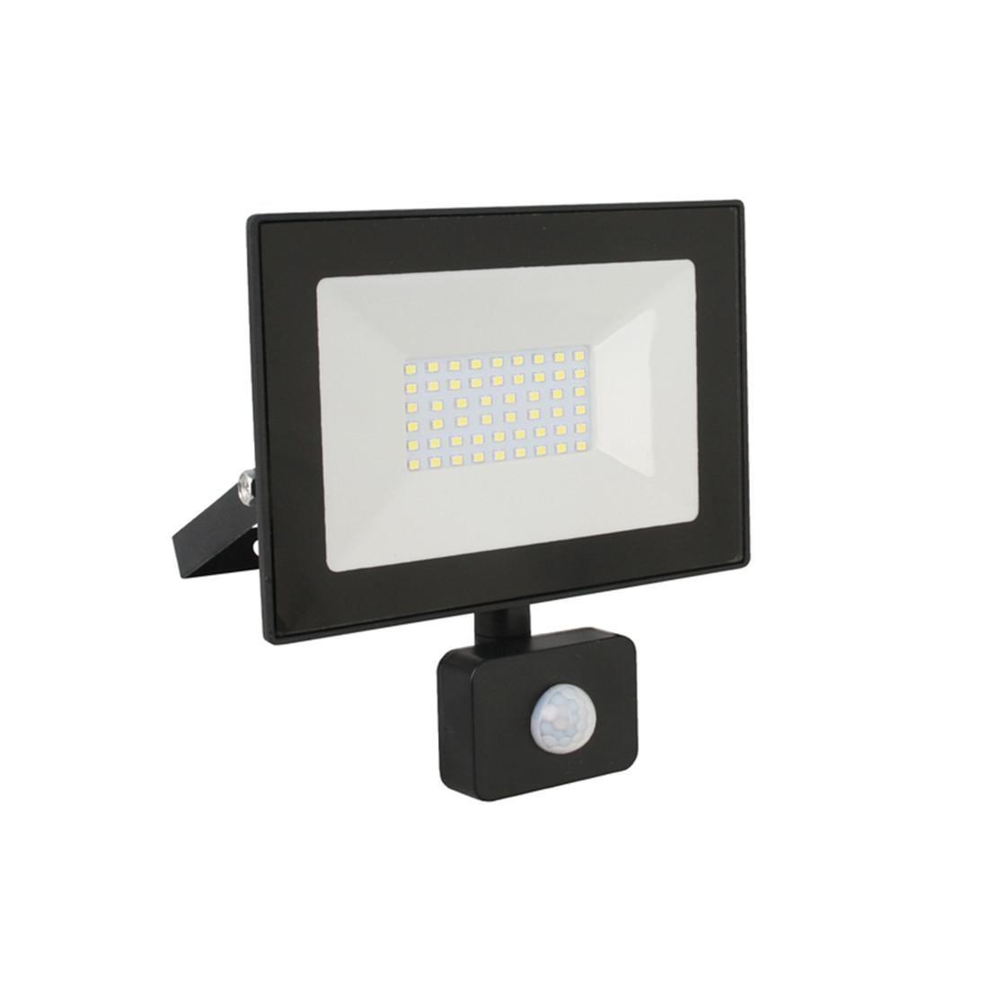 Прожектор LED с датчиком Ultraflash LFL-5002S C02 (50Вт., 6500К)