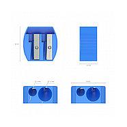Пластиковая точилка ErichKrause® Multi на два отверстия, цвет корпуса ассорти (в коробке по 24 шт.), фото 2