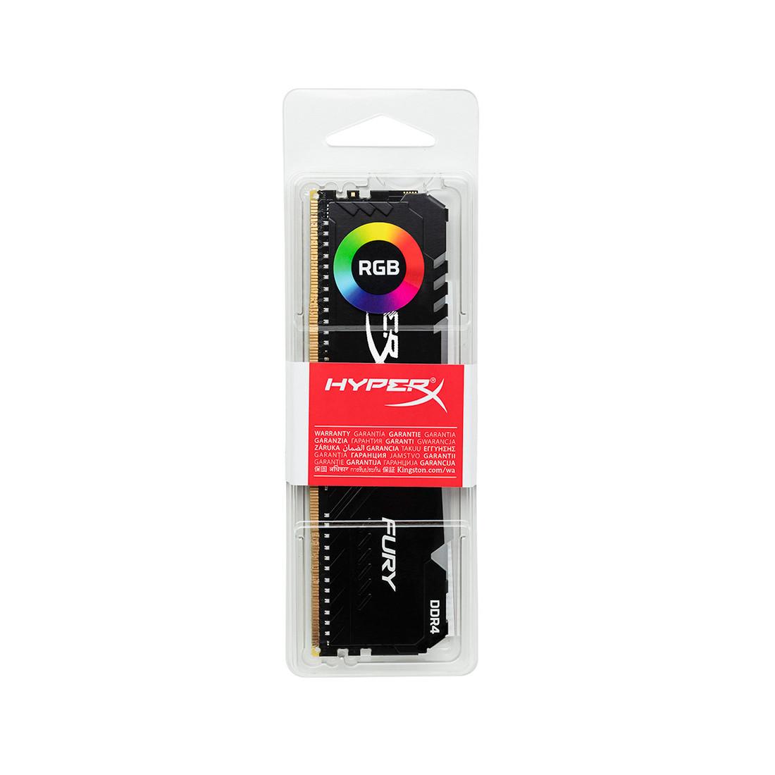 Модуль памяти Kingston HyperX Fury RGB HX430C15FB3A/16 DDR4 16G 3000MHz
