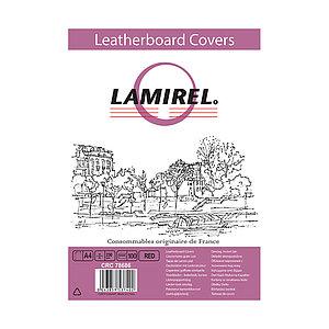 Обложки Lamirel Delta A4 LA-78686, картонные, с тиснением под кожу , цвет: красный, 230г/м², 100шт