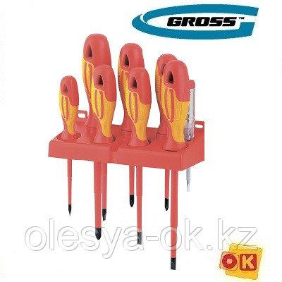 Набор отверток, диэлектрических до 1000 В, 8 пр. GROSS