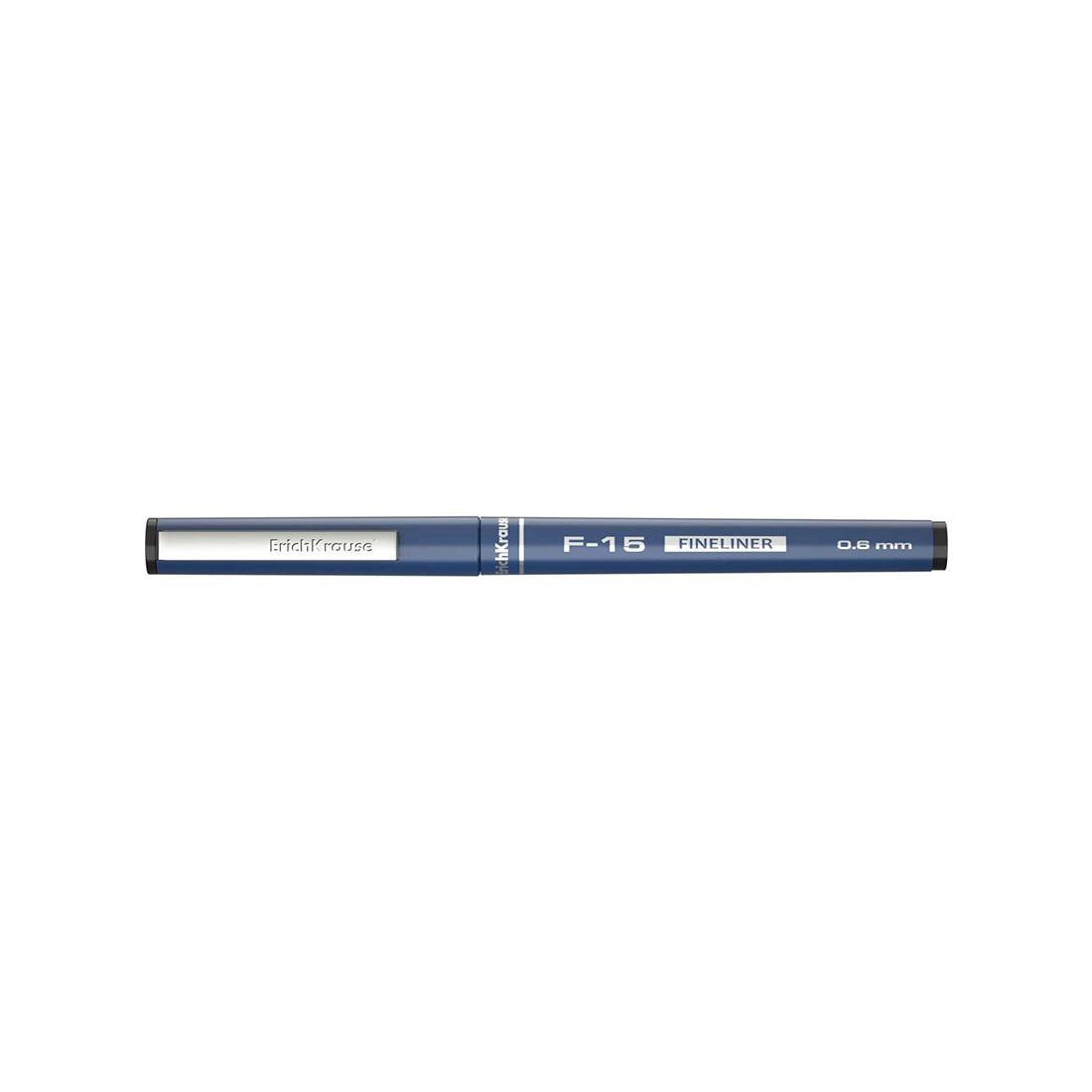 Ручка капиллярная ErichKrause® F-15 37066 цвет чернил черный