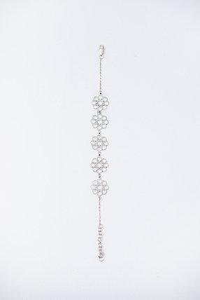 Браслет серебро Цветы, фото 2