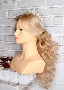 Голова-манекен OMC светло русый волос человеческий (100%) - 65 см