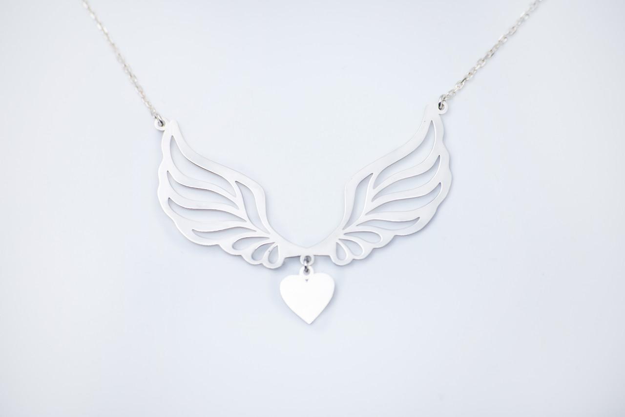 Подвеска серебро Крылья с цепочкой