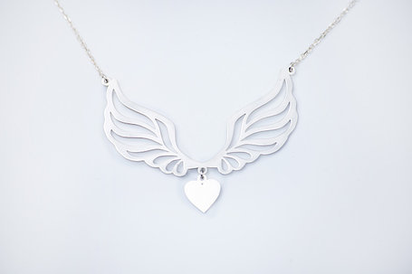 Подвеска серебро Крылья с цепочкой, фото 2
