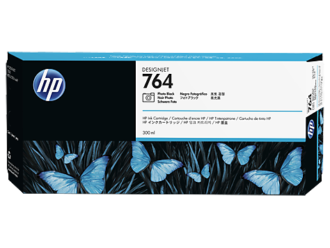 HP C1Q17A Картридж черный фото HP 764 для Designjet T3500
