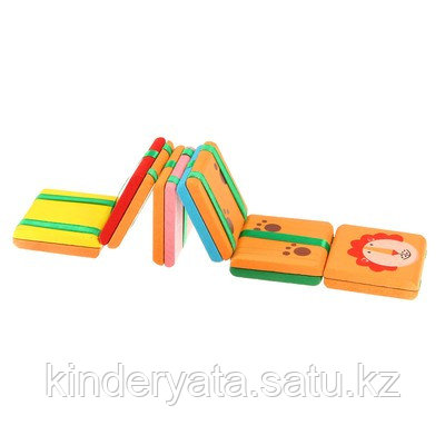 Головоломка с переворачивающимися цветными квадратами с рисунком 6 видов