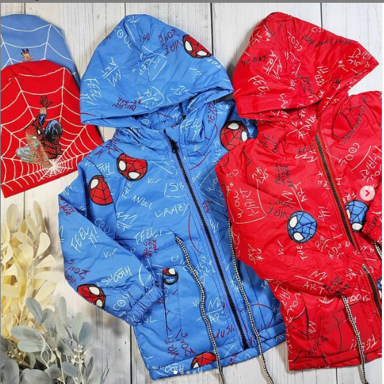 Куртка Человек Паук на 1,5 - 2, 2- 3 года