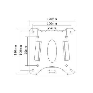 """Кронштейн Brateck LCD-203 для ТВ и мониторов, 13""""-27"""""""