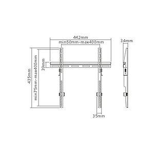 """Кронштейн Brateck KL14-44F для ТВ и мониторов, 32""""-55"""""""