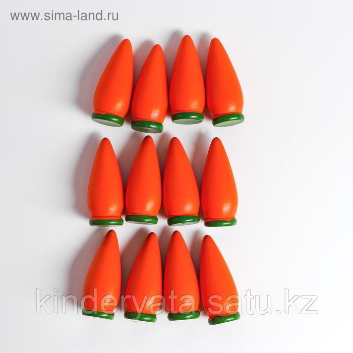 "Сима-ленд Счётный материал ""Морковь"", набор 12 шт"