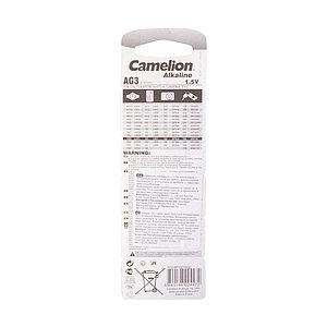Батарейка CAMELION Alkaline AG3-BP10(0%Hg) 10 шт. в блистере
