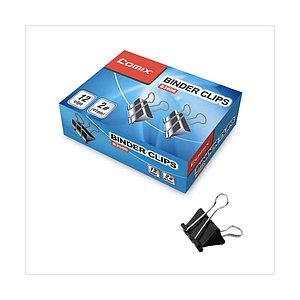 Зажимы для бумаг Comix B3610, 15 мм. (коробка 12 зажимов)