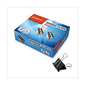 Зажимы для бумаг Comix B3609, 19 мм., (коробка 12 зажимов)