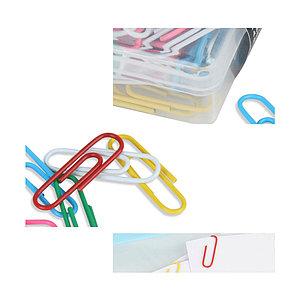Скрепки металлические Comix B3507, 32 мм., цветные в ассортименте (коробка 100 скрепок)