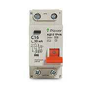 Дифференциальный автомат iPower АД12 1P+N 16A 30mA 4.5kA, фото 2