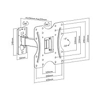 "Кронштейн Brateck KLA27-221 для ТВ и мониторов, 23""-42"""