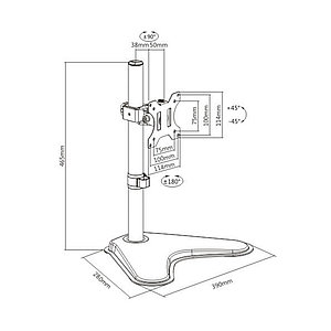 """Настольный кронштейн Brateck LDT12-T01 для 1 монитора (13""""-32"""")"""