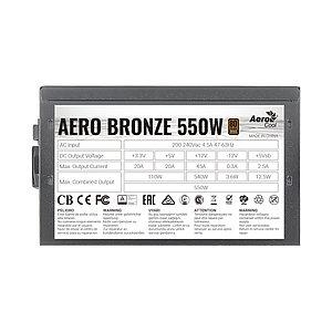 Блок питания Aerocool AERO BRONZE 550W