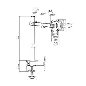 """Настольный кронштейн Brateck LDT12-C011 для 1 монитора (13""""-32"""")"""