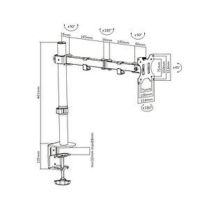 """Настольный кронштейн Brateck LDT12-C012N для 1 монитора (13""""-32"""")"""