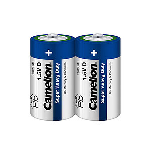 Батарейка CAMELION Super Heavy Duty R20P-SP2B 2 шт. в плёнке
