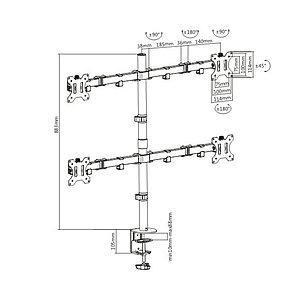"Настольный кронштейн Brateck LDT12-C048N для 4-х мониторов (13""-32"")"