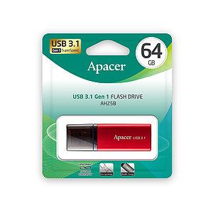 USB-накопитель Apacer AH25B 64GB Красный
