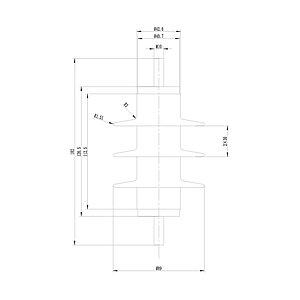 Ограничитель перенапряжения Deluxe HY5WS-10/30 6000 В