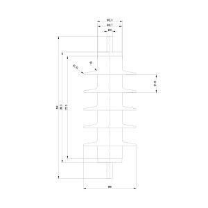 Ограничитель перенапряжения Deluxe HY5WS-17/50 10000 В