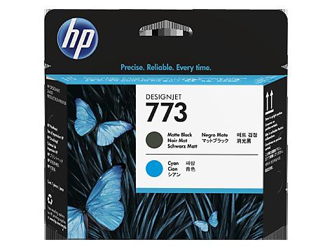 HP C1Q20A Печатающая головка матовый черный/голубой HP 773 для Designjet Z6600
