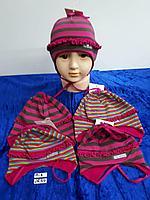 Шапочка трикотажная с завязками для девочки. Фирма Tomino (Maja)