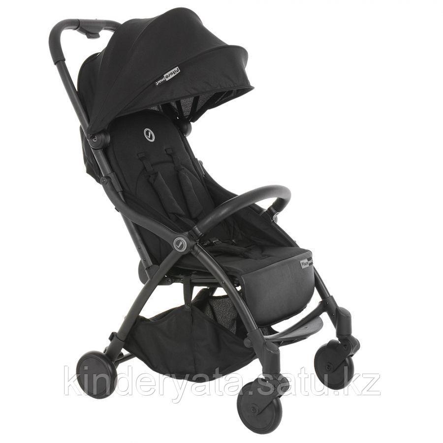 PITUSO коляска детская прогулочная SMART BLACK черный, шоколадный лен