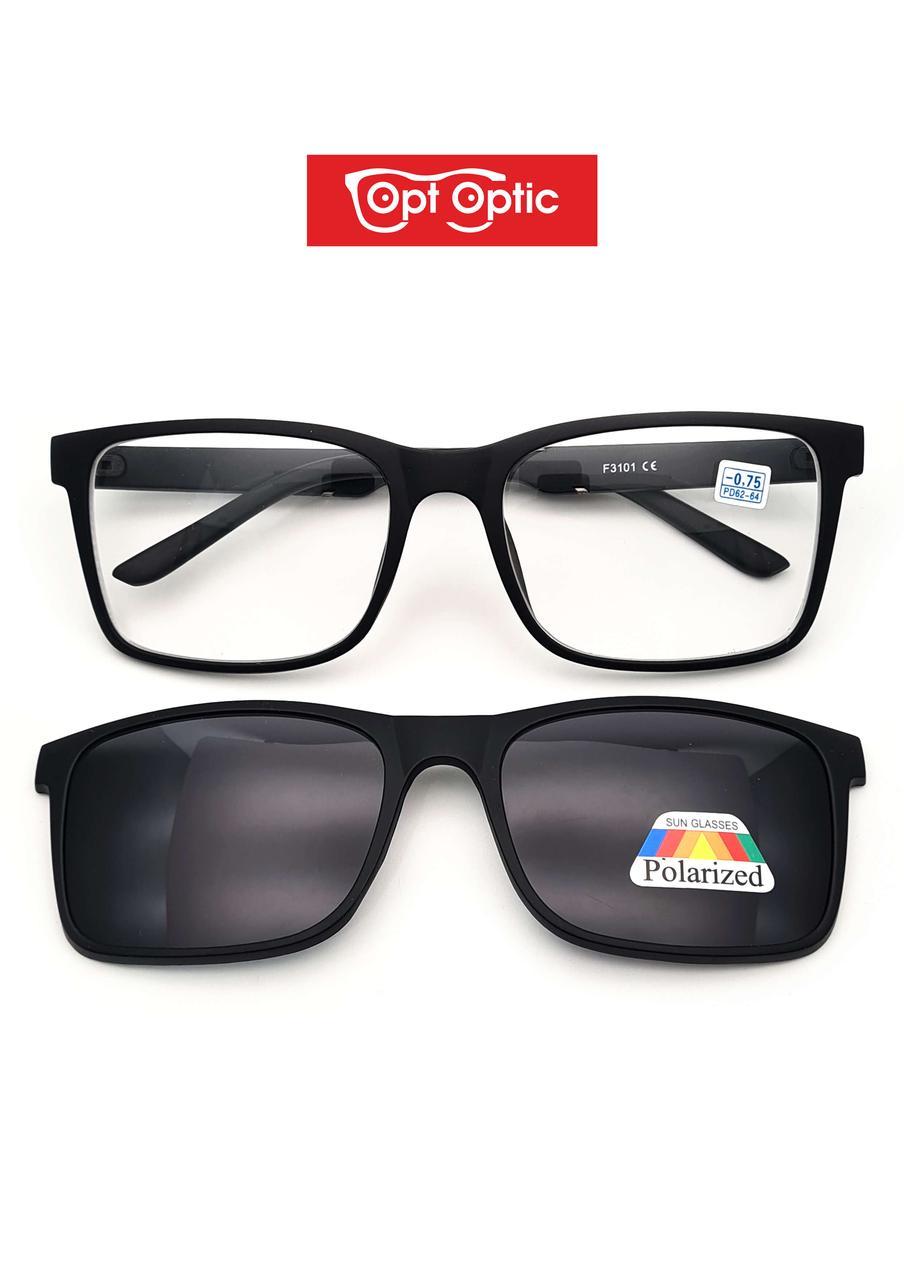 Готовые очки с магнитными насадками и диоптриями от -1.00 до -6.00